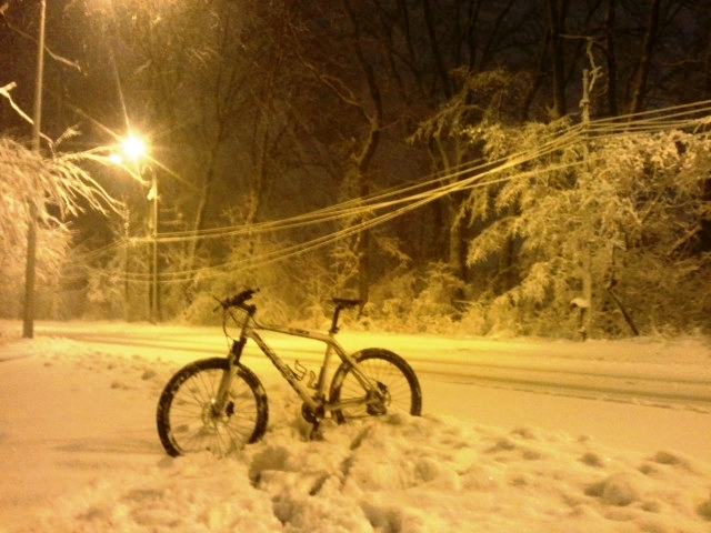 Cum m-am jucat de-a exploratorul arctic pe bicicleta, in Padure la Baneasa
