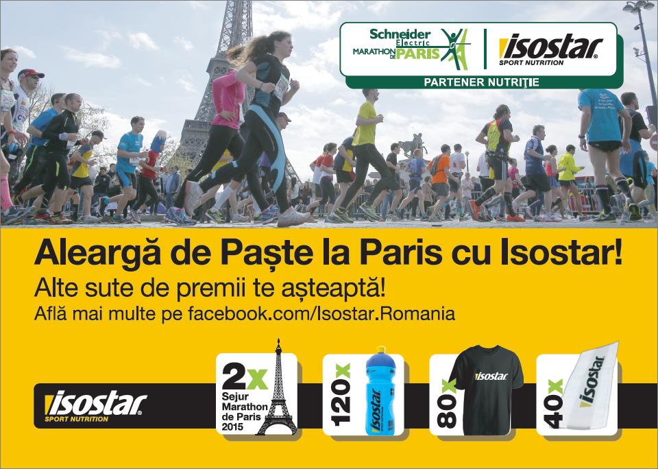 In 2015, poti alerga la Marathon de Paris cu ISOSTAR