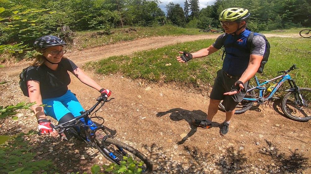 Maria despre tabara de mountainbike